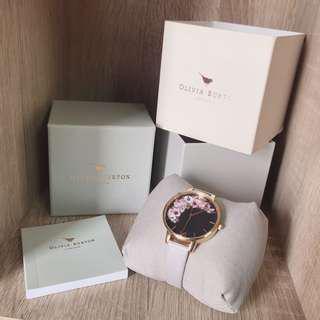 英國Olivia Burton 花錶面手錶 36mm