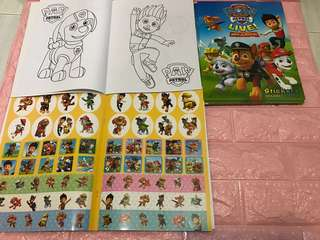 Instock Paw Patrol Coloring And Stickers book A4 size .. w crayon set will be $4.90