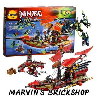 LEPIN 06020 NINJAGO Destiny Bounty Building Blocks Toy