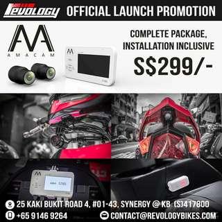 AMACAM S780 1080 True HD Motorcycle Camera