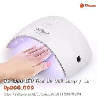 36 Watt LED And Uv Nail Lamp / Lampu Pengering Gel