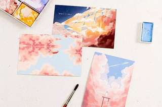 (PO) Up in the Skies Postcards/ Post Cards