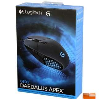 全新 Logitech G303 RGB 遊戲滑鼠 + 全新 G940 超大型布面遊戲滑鼠墊