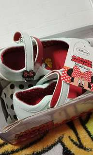 Minnie mouse white shoes