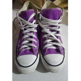 Converse Chuck Taylor High Cut Sneakers Purple