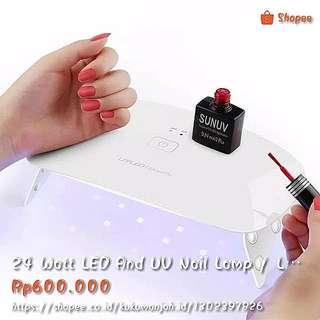 24 Watt LED And UV Nail Lamp / Lampu Pengering GEL