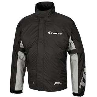 Taichi waterproof raincoat and pants set in black