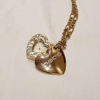 BEBE heart shape gold pendant watch ORI