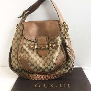 Authentic Vintage Gucci Pelham Horsebit Saddle Bag