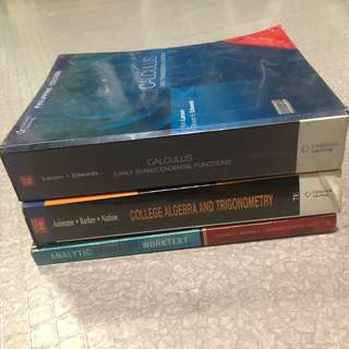 Engineering/Math College Books (can be sold in bundle or not)