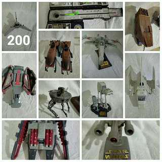 Starwars toys planes figures shuttle