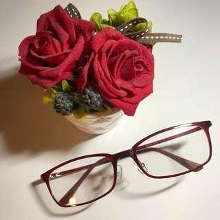 幸運紅超輕方形眼鏡(Z5)
