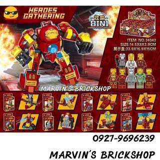 LELE 34043 Iron Man 8in1 Minifigures w/ Hulkbuster FREE