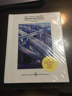 Business and Society 15th Edition (BGS)