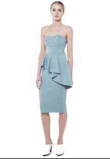 BNWT Collate Diagonal peplum dress