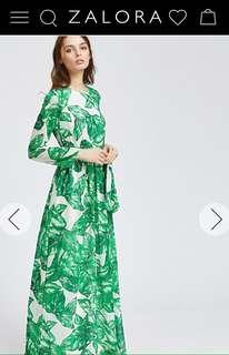 Zalora Tropical Maxi Dress