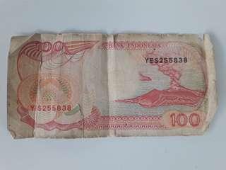 Uang lama Rp.100 edisi kapal tahun 1992