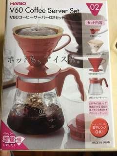 Hario 日本制手冲咖啡套裝 ,全新日本制不是國產貨。已包括40個過濾紙。