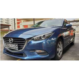 PDVL holders. GrabCar+ 2017 Mazda3. Flexi Rental, MY ok! Fast Transaction