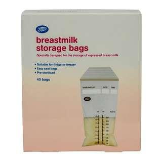 Boots Breastmilk Storage Bags