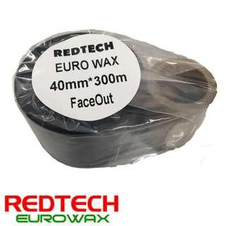 REDTECH EUROWAX - PREMIUM QUALITY WAX BARCODE RIBBON 40*300METER