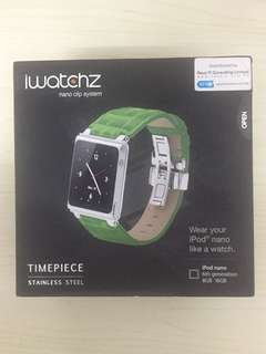 原裝iwatchz timepiece watch band for iPod nano6