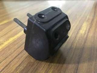 70s Black Two Pin Multipurpose Plug