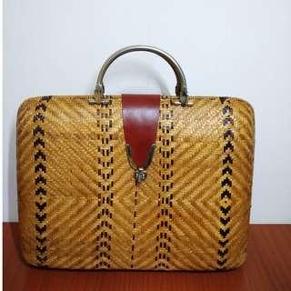 早期摩登時代 美好時光 自然系 手工藤編 皮革加工 硬殼手提包 野餐盒