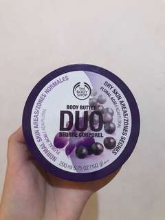 Body shop floral acai duo body butter #maudecay