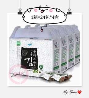 【宅配免運】Atomy⚘艾多美香烤海苔(小片裝) 1箱 (1箱4盒);(4.5公克×24包/盒)艾多美海苔 代購