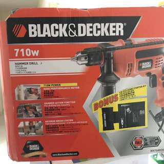 B&D Hammer Drill 710w 13mm(max)