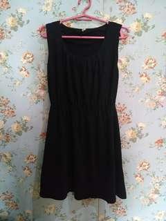 M+P+E Black Skater Dress