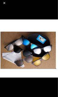 Stylish Magnetic Clip on Sunglasses - comes with 5 different lenses from X Glare