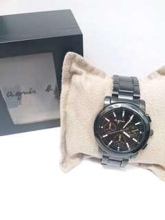 Agnes b 黑鋼帶手錶