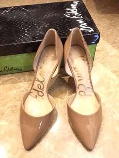 Sam Edelman Tesla evening sand high heels US5M jimmy choo Ysl Dior Sam Edelman Becca nars Chanel 高跟鞋 侏羅紀跑得䊨恐龍高跟鞋