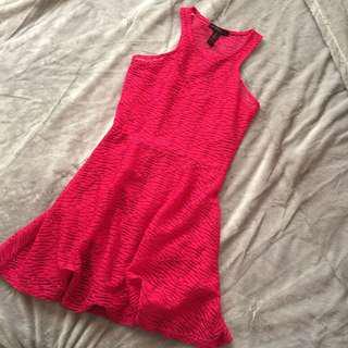 MATERIAL GIRL Hot Pink Skater Dress
