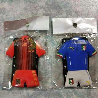 Italy n Spain keychain