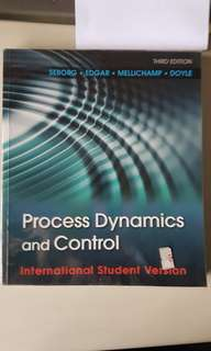Process Control and Dynamics textbook  NTU CH3101