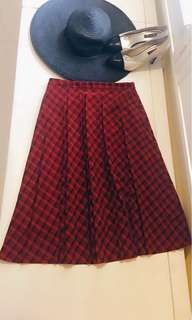 🚚 我的英倫風 英式格子百摺長裙 可搭配襯衫