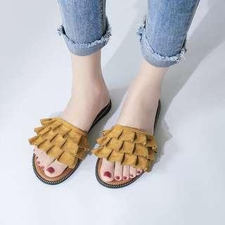 [PO] Suede Sandals