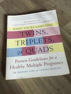 Pregnancy book (twins triplets quads multiple)