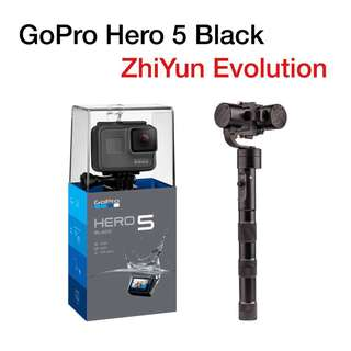 GoPro Hero 5 bundle with ZhiYun Evolution
