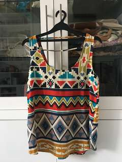 Forever 21 Ethnic Pattern Top