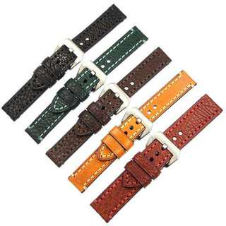 GENUINE LEATHER WATCHBAND FOR PANERAI WATCH 20MM 22MM 24MM 26MM