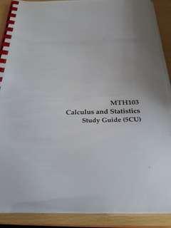 MTH 103 Calculus and Statistics