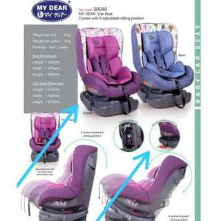 Carseat 4 Recline Position My Dear 30040
