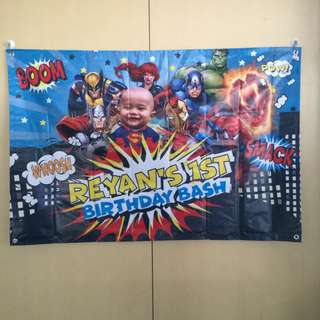 Party banner printing