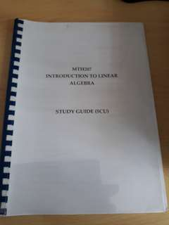 MTH 207 Introduction to Linear Algebra