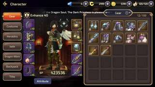 Selling dragon nest account