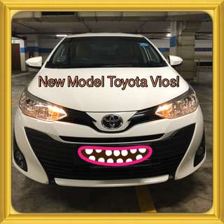 TOYOTA VIOS 1.5E CVT! Brand New! Promo Now! Petrol Saver Proven! 18% off petrol Card! Lowest Price! Can Drive For Grab/RydeX/Go-jek/Jugnoo! Flexible Rental Scheme! Personal User! Call Now!